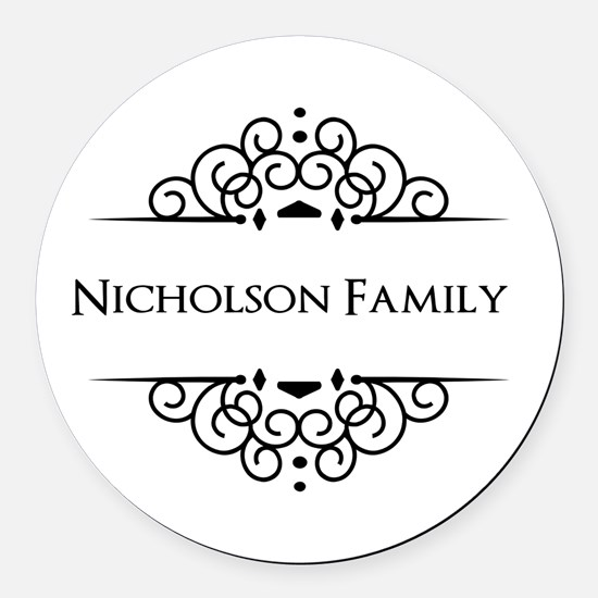 Personalized family name Round Car Magnet