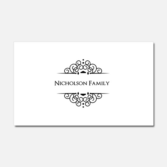 Personalized family name Car Magnet 20 x 12