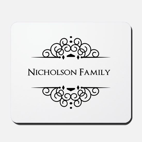 Personalized family name Mousepad