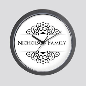 Personalized family name Wall Clock