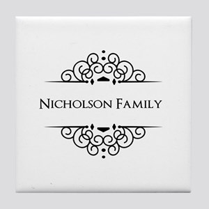 Personalized family name Tile Coaster