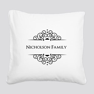 Personalized family name Square Canvas Pillow