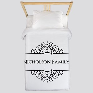 Personalized family name Twin Duvet