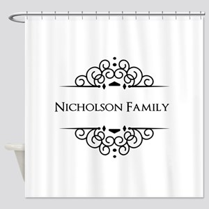 Personalized family name Shower Curtain