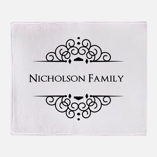 Personalized family name Throw Blanket
