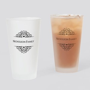 Personalized family name Drinking Glass