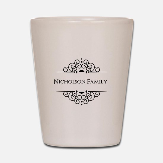 Personalized family name Shot Glass