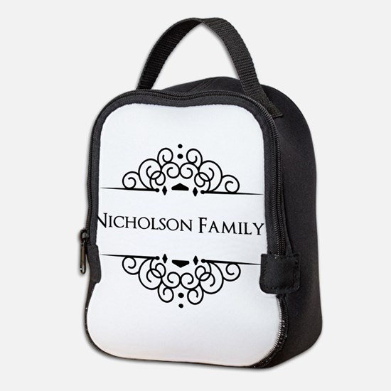 Personalized family name Neoprene Lunch Bag