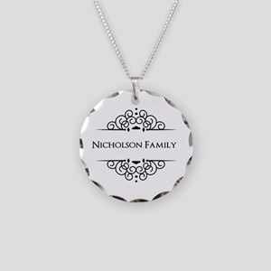 Personalized family name Necklace Circle Charm