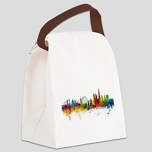 London England Skyline Canvas Lunch Bag