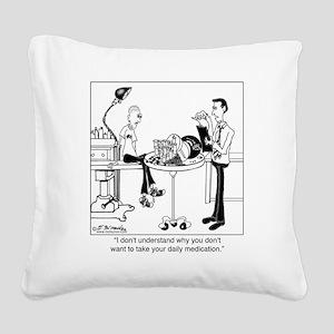 8328_pharmacy_cartoon Square Canvas Pillow