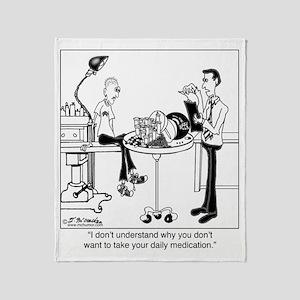 8328_pharmacy_cartoon Throw Blanket