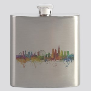 London England Skyline Flask