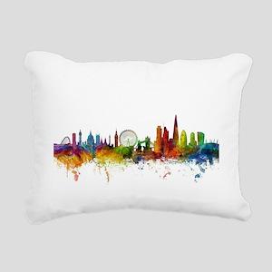 London England Skyline Rectangular Canvas Pillow