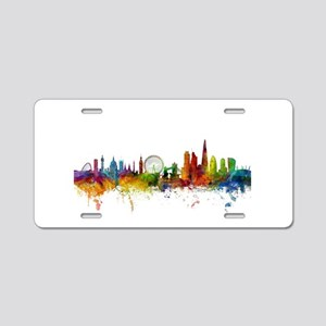 London England Skyline Aluminum License Plate