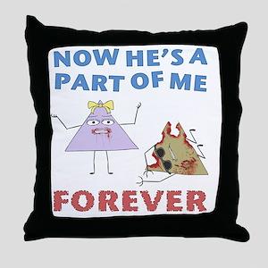 mm-d5-BlackApparel Throw Pillow