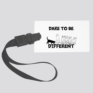 Dare to be different cats Large Luggage Tag
