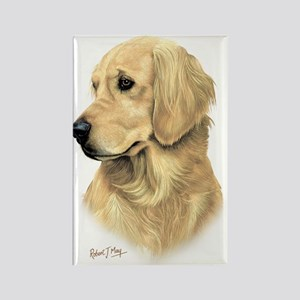 Golden Retriever 3 Rectangle Magnet