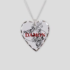 Damon Salvatore Necklace Heart Charm