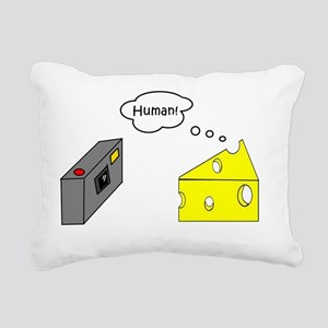 What does cheese say whe Rectangular Canvas Pillow