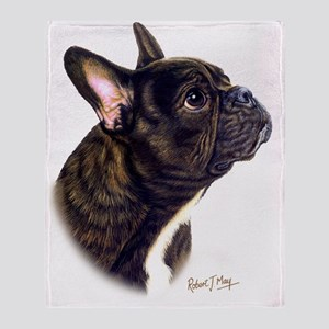 French Bulldog Throw Blanket