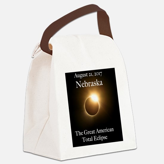 Cute Nebraska Canvas Lunch Bag