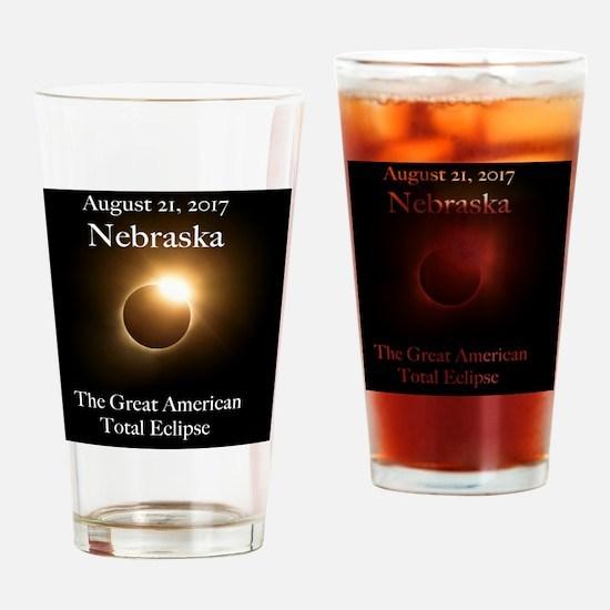 Cute Nebraska Drinking Glass