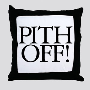 Pith Off! Throw Pillow
