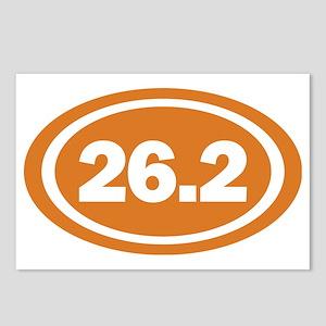 26.2 Burnt Orange Oval Tr Postcards (Package of 8)