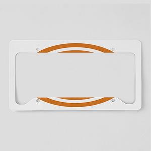26.2 Burnt Orange Oval True License Plate Holder
