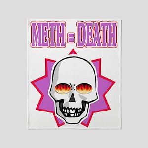 METH DEATH Throw Blanket