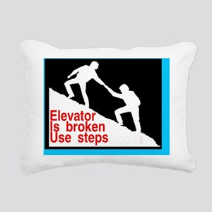 elevator broken Rectangular Canvas Pillow