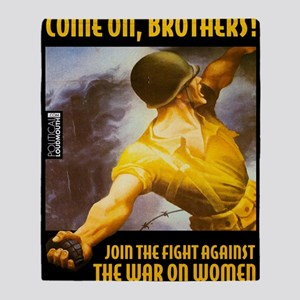 WAR WOMEN BROTHERS Throw Blanket