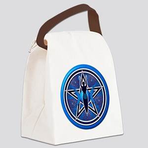 Blue Goddess Pentacle - 02 Canvas Lunch Bag