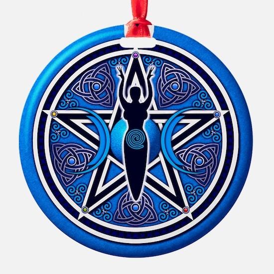 Blue Goddess Pentacle - 02 Ornament