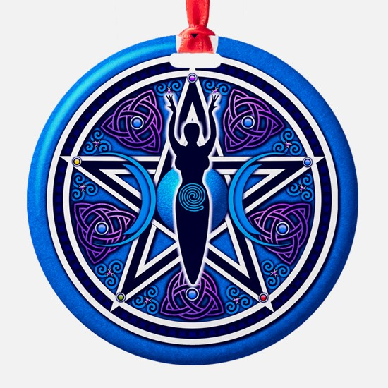 Blue-Purple Goddess Pentacle Ornament