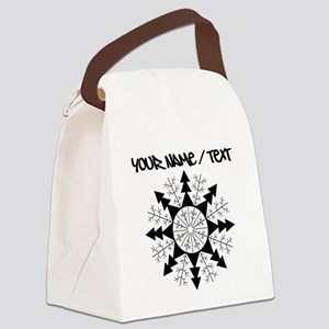 Snowflake Canvas Lunch Bag