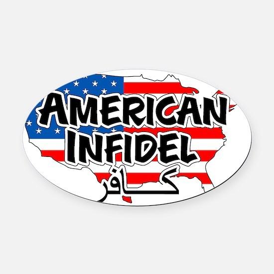 americaninfidel Oval Car Magnet