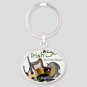 IRISH-SOUL-B Oval Keychain