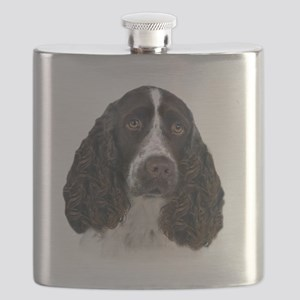 English Springer Spaniel Portrait Flask