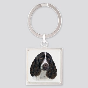 English Springer Spaniel Portrait Square Keychain