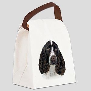 English Springer Spaniel Portrait Canvas Lunch Bag