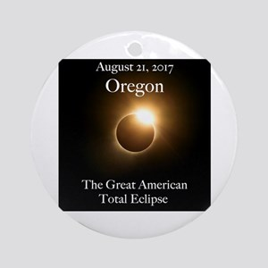 Diamond Ring in Oregon Round Ornament