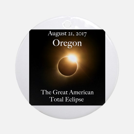 Diamond Ring in Oregon Round Ornament