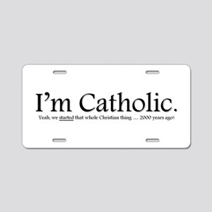 Catholic / Christian Aluminum License Plate
