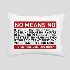 No Means No Rectangular Canvas Pillow