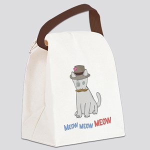 Mittens-D1-BlackApparel Canvas Lunch Bag