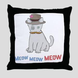 Mittens-D1-BlackApparel Throw Pillow