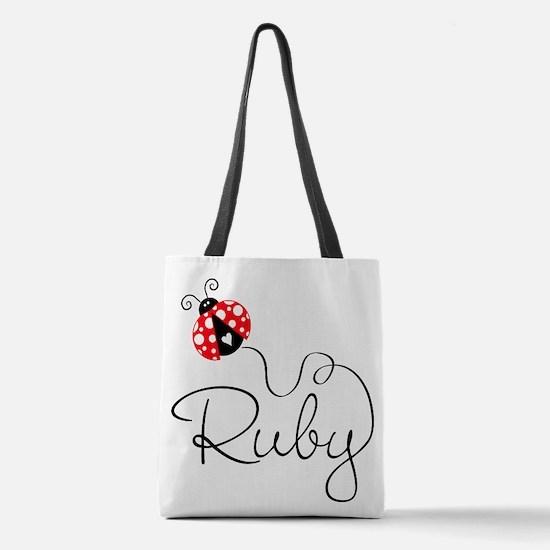 Ladybug Ruby Polyester Tote Bag