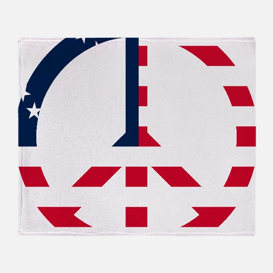 American Flag Peace Sign Betsy Ross  Throw Blanket